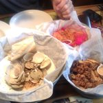 clams over steamed, oyster over fried, shrimp ok but still cooked too hard