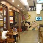 inside the CHARLIE BROWN CAFE