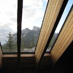 View of Rundle mountain through from the lounge