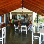 Open air refreshment and dining area with free wi-fi