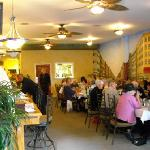 Wall murals at Mrs. G and Me restaurant in Hendersonville, North Carolina