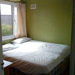 Gold chalet bedroom