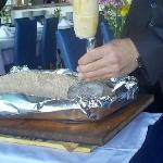 Salt encrusted bream