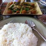 Rendang ayam with rice