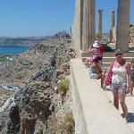 View from Lindos acropolis, a must visit!!