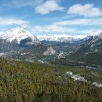 Looking Out from the Gondola Going Up Sulphur Mountain