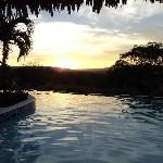 dawn at the pool
