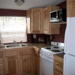 full size, clean kitchen