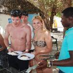 Mittagessen im Fischerdorf Mano Juan