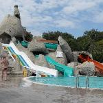 The other pool with slides.
