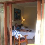 bedroom from the balcony