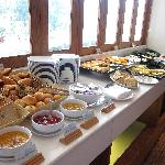 Breakfast table spread (one of the side)