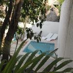 The swimmingpool at hotel Latino