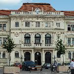 Blick aufs Rathaus am Hauptplatz