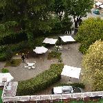 Overlooking the hotel garden