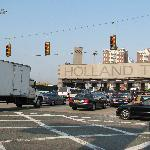 You can see Empire State Building on the left of Holland Tunnel