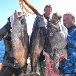 all 3 of us with our prized catches!