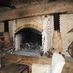 The famous fireplace
