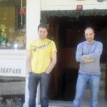 Boris and Volkan at  Muhlis Bey Hotel