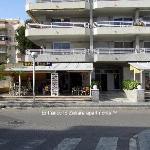 Entrance to Zahara Apartments