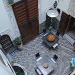 View of the Riad's internal courtyard