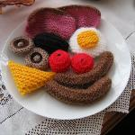 The knitted full Welsh breakfast!