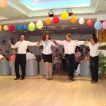 Greek dancing by Hotel staff