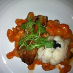 Roasted Cod, Ginger Butter Poached Lobster, impeccableTomato Gnocci