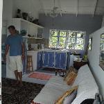 cottage living room & kitchen