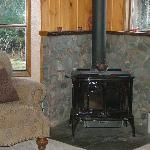 Cozy spot by the fire