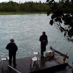 Fish from our private dock(Alaska Riverview Lodge)