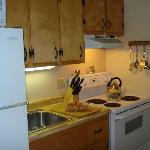 Full Kitchen in each apartment style unit