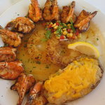 Blackened Shrimp with twice baked potato