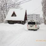 The road out front of Hakuba house