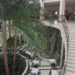 The steps to the dining area