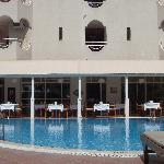 Restaurant by the pool