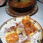 Borscht and phyllo/egg appetizre