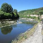 Hotel on banks of the River Vezere