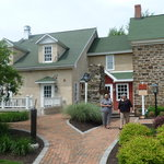 Historic house and modern restaurant