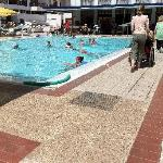 pool with wheelchairs