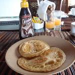 Banan pancakes