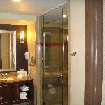 Bathroom in our Waterfront Tower room