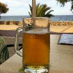 a very good pint in cala bona