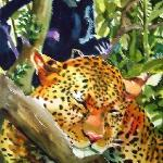 Jaguar with Howler Monkey