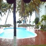 the beautiful pool.