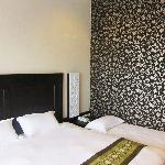 Room with pretty wallpaper