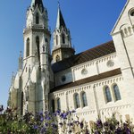 Klosterneuburg Monastery - square & Abbey Church from outside