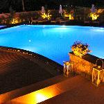 Communal pool at night!