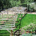 Pergola in back yard for weddings and special ceremonies