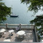 Blik vom Zimmer auf den See